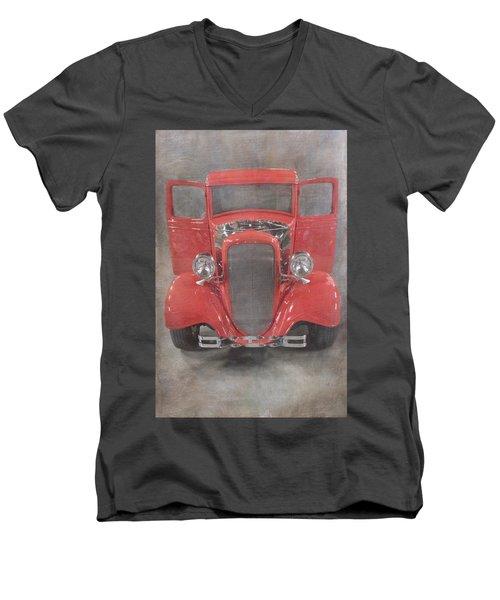 Red Hot Baby Men's V-Neck T-Shirt