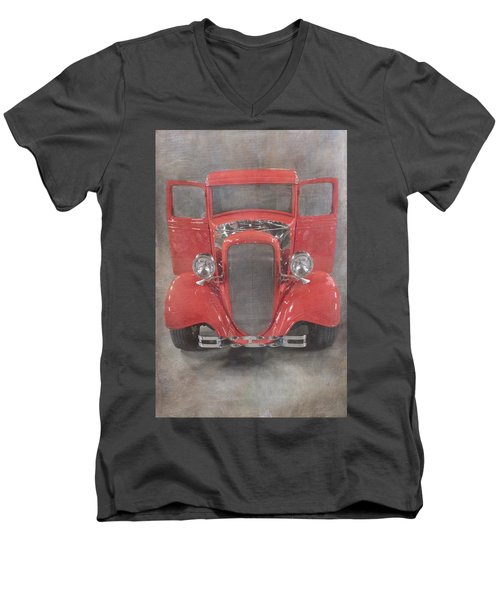 Red Hot Baby Men's V-Neck T-Shirt