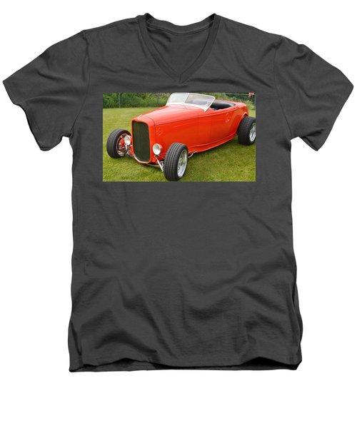 Red Hot Rod Men's V-Neck T-Shirt