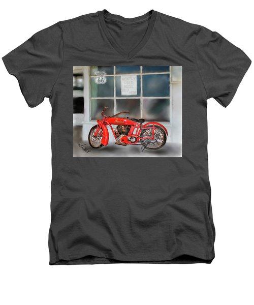 Red Hot Tail Gunner Men's V-Neck T-Shirt