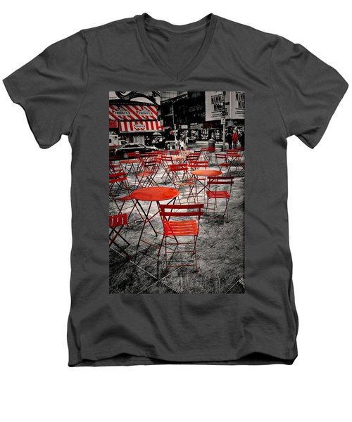 Red In My World - New York City Men's V-Neck T-Shirt