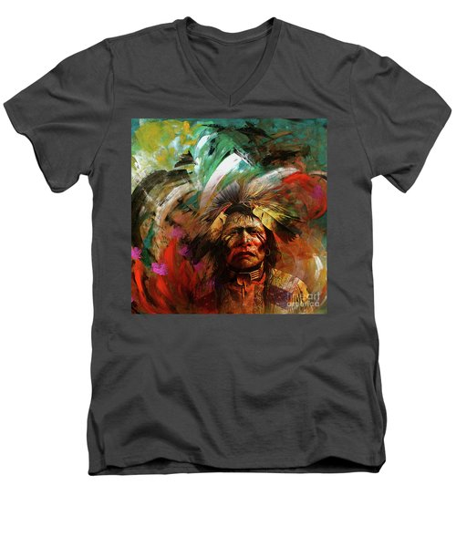 Red Indians 02 Men's V-Neck T-Shirt