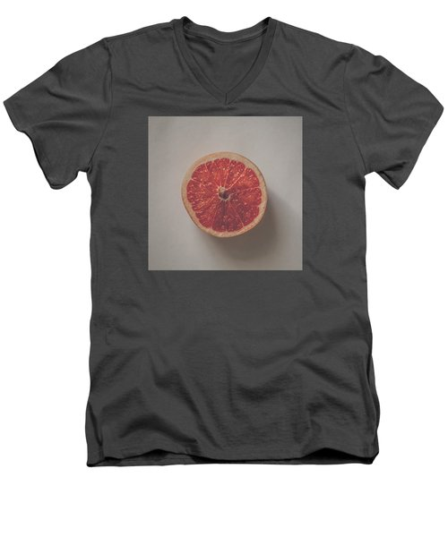 Red Inside Men's V-Neck T-Shirt by Kate Morton