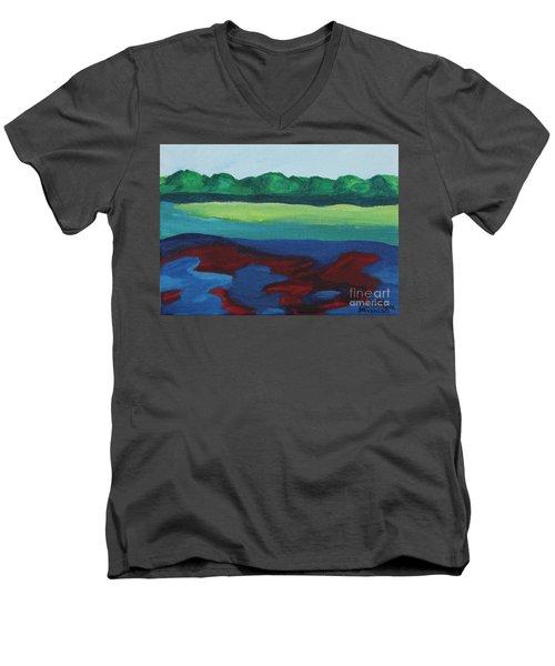 Red Lake Men's V-Neck T-Shirt