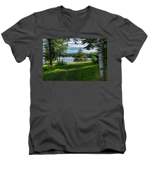 Red Lake Ontario 2 Men's V-Neck T-Shirt