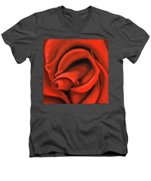 Red Lips Men's V-Neck T-Shirt