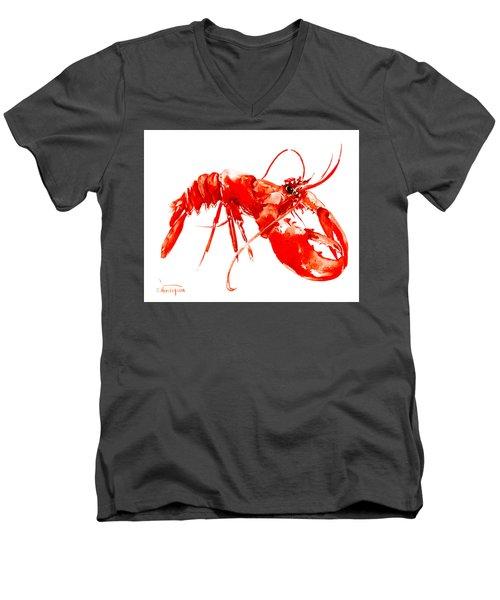 Red Lobster Men's V-Neck T-Shirt by Suren Nersisyan
