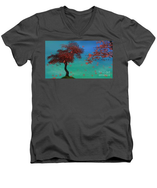 Red Maples Men's V-Neck T-Shirt