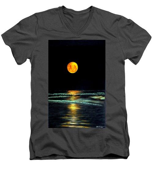 Red Moon Rising Men's V-Neck T-Shirt