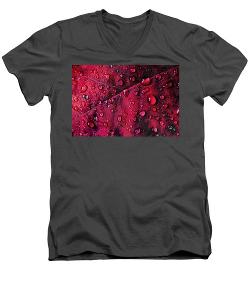 Red Morning Men's V-Neck T-Shirt