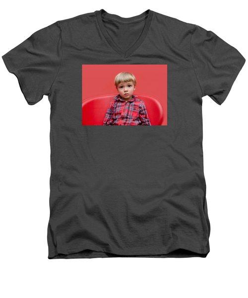 Red On Red Men's V-Neck T-Shirt