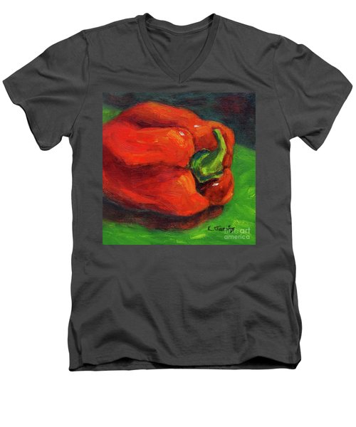 Red Pepper Still Life Men's V-Neck T-Shirt