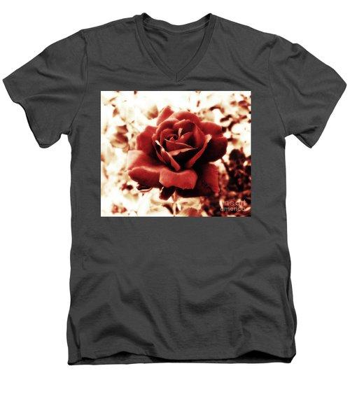 Red Petals Men's V-Neck T-Shirt