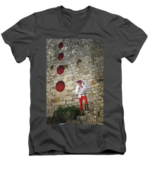 Red Piper Men's V-Neck T-Shirt