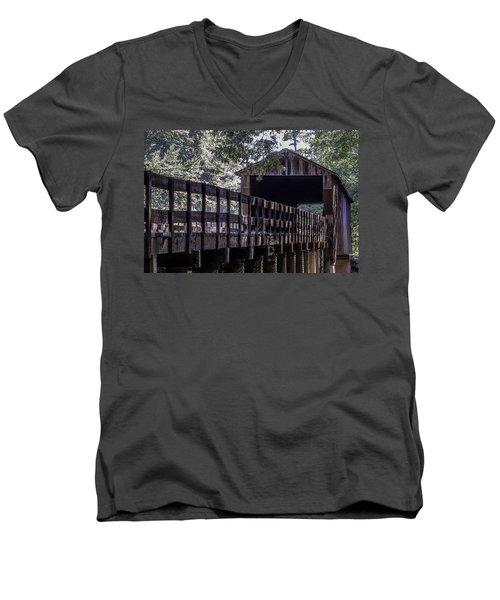 Red Oak Creek Bridge Men's V-Neck T-Shirt