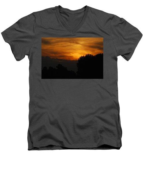 Red Red Sunset Men's V-Neck T-Shirt