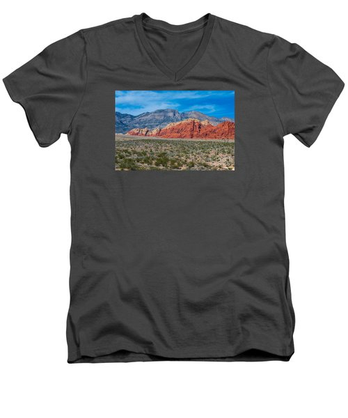 Red Rock Canyon Men's V-Neck T-Shirt