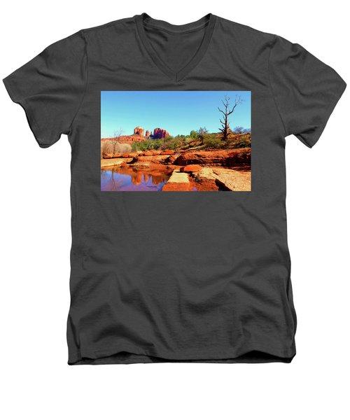 Red Rock Crossing Men's V-Neck T-Shirt