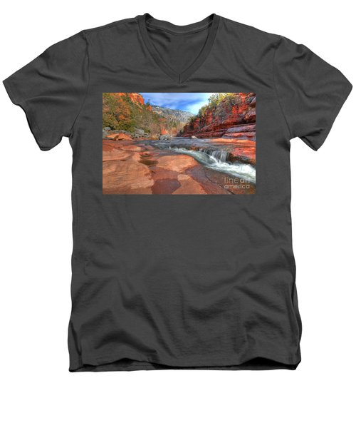 Red Rock Sedona Men's V-Neck T-Shirt by Kelly Wade
