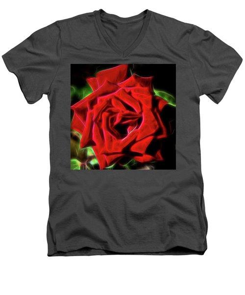 Red Rose 1a Men's V-Neck T-Shirt