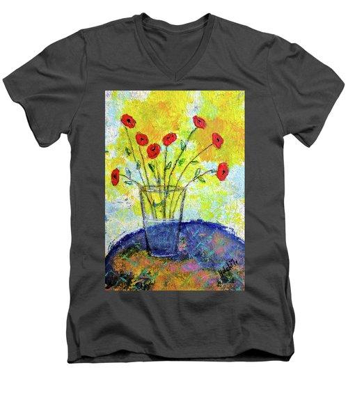 Red Roses For You Men's V-Neck T-Shirt