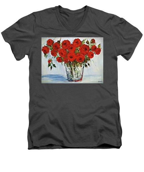 Red Roses Memories Men's V-Neck T-Shirt