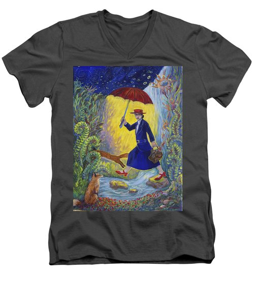 Red Shoes Mary Poppins Men's V-Neck T-Shirt