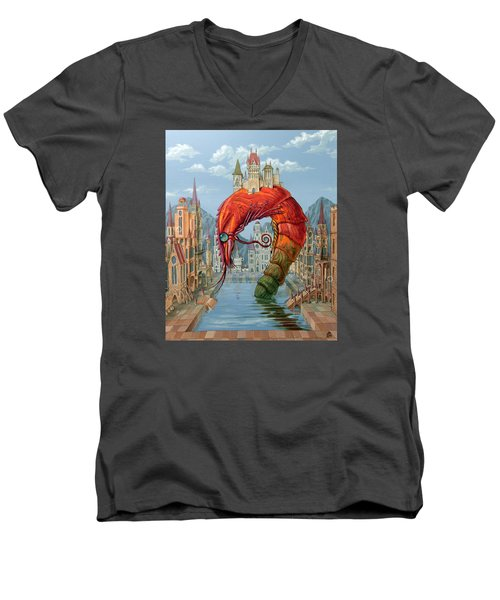 Red Shrimp Men's V-Neck T-Shirt