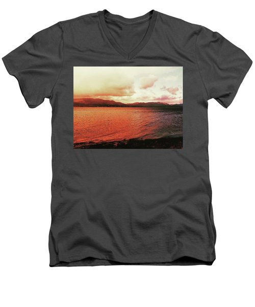Red Sky After Storms  Men's V-Neck T-Shirt