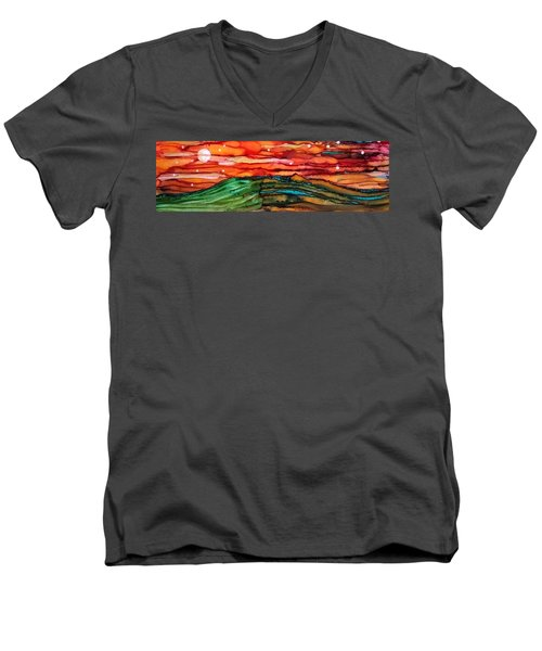 East Meets West Men's V-Neck T-Shirt