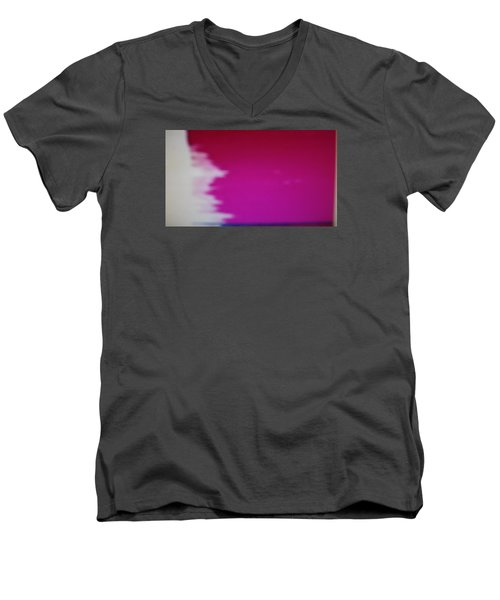 Men's V-Neck T-Shirt featuring the painting Red Sky by Don Koester