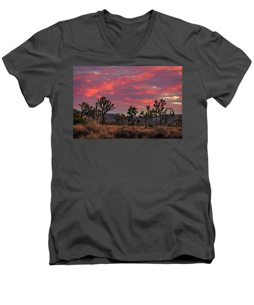 Red Sky Over Joshua Tree Men's V-Neck T-Shirt