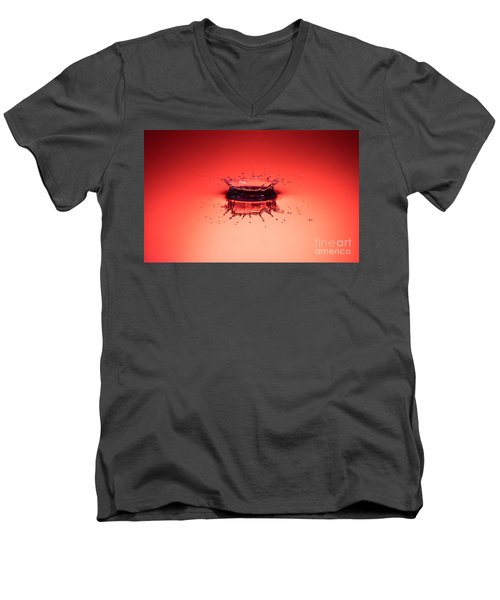 Red Splashdown Men's V-Neck T-Shirt