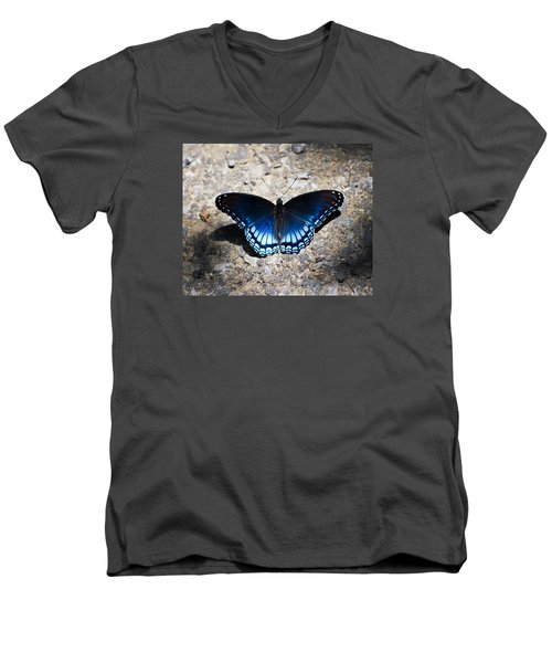Red-spotted Purple Butterfly Men's V-Neck T-Shirt by Kerri Farley
