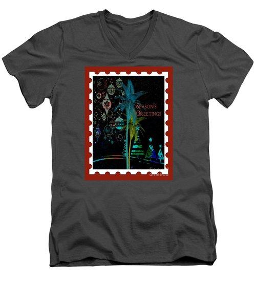Red Stamp Men's V-Neck T-Shirt