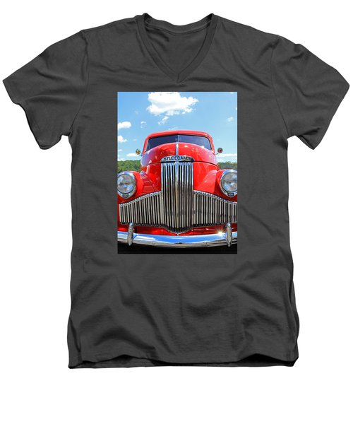 Red Studebaker Men's V-Neck T-Shirt