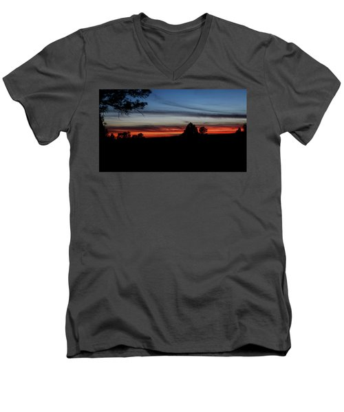 Red Sunset Strip Men's V-Neck T-Shirt