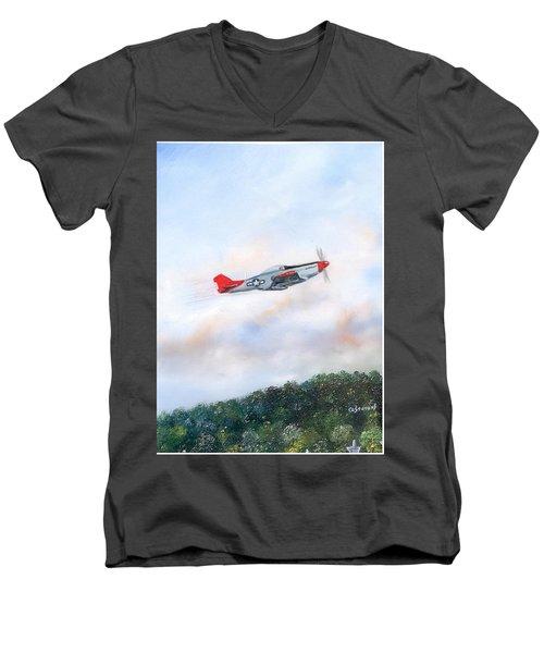 Red Tails Men's V-Neck T-Shirt
