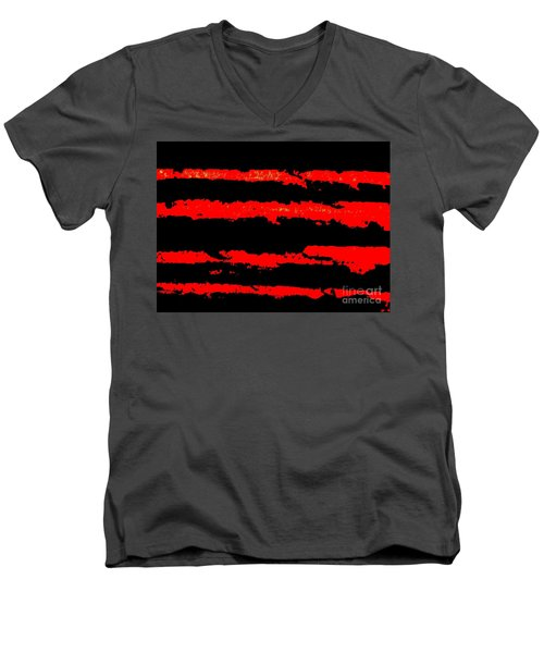 Red Tide Men's V-Neck T-Shirt by Tim Townsend
