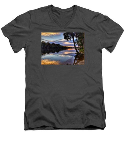 Red Tranquility  Men's V-Neck T-Shirt