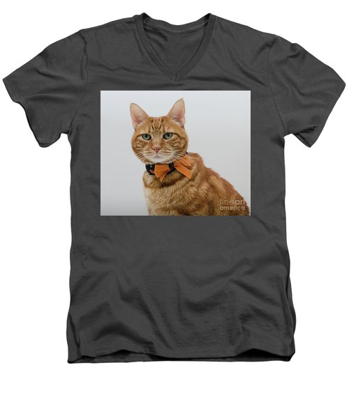 Red Tubby Cat Tabasco Halloween Men's V-Neck T-Shirt