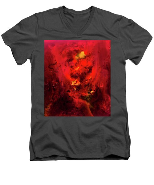 Red Universe Men's V-Neck T-Shirt