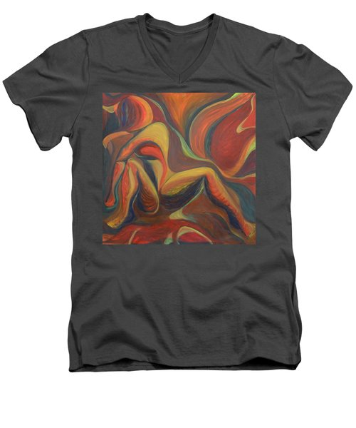 Red Venture Unknown Men's V-Neck T-Shirt