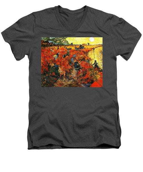 Red Vineyard Men's V-Neck T-Shirt