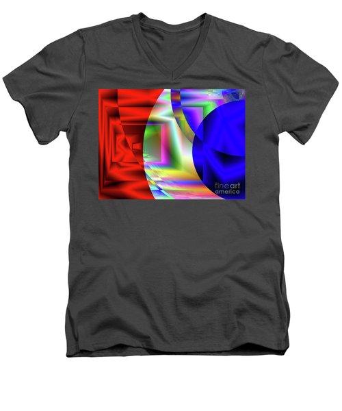 Red White And Blue 3 Men's V-Neck T-Shirt