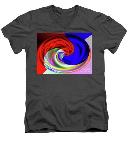 Red White And Blue 4 Men's V-Neck T-Shirt