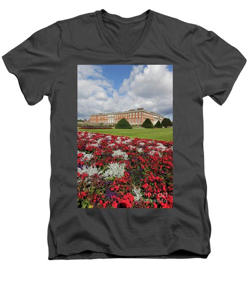 Red White And Blue At Hampton Court Men's V-Neck T-Shirt