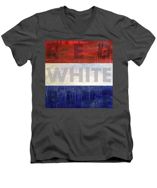 Red White Blue Men's V-Neck T-Shirt
