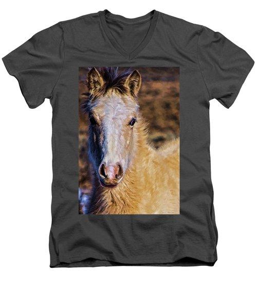 Red Willow Pony Men's V-Neck T-Shirt