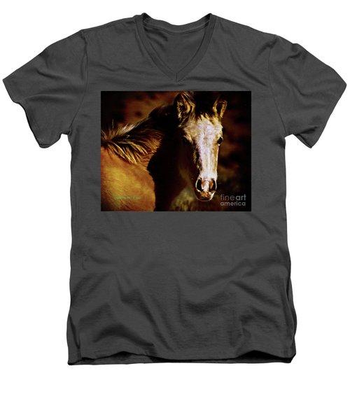 Red Willow Pony Lx Men's V-Neck T-Shirt